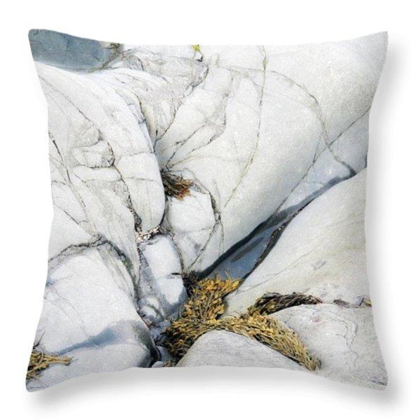 Blue Water Throw Pillow by Marcia Lee Jones