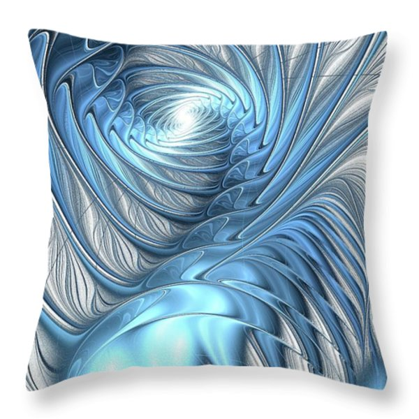 Blue Wave Throw Pillow by Anastasiya Malakhova