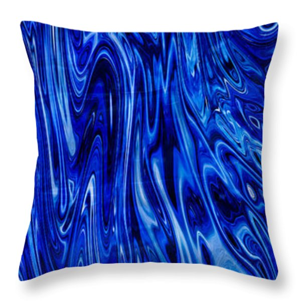 Blue Waves Of Beauty Throw Pillow by Omaste Witkowski