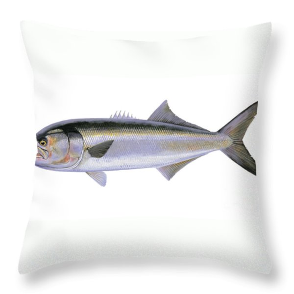 Bluefish Throw Pillow by Carey Chen