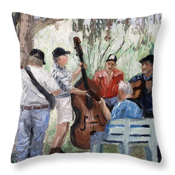 Bluegrass In The Park Throw Pillow by Anthony Falbo