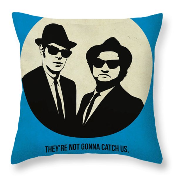 Blues Brothers Poster Throw Pillow by Naxart Studio