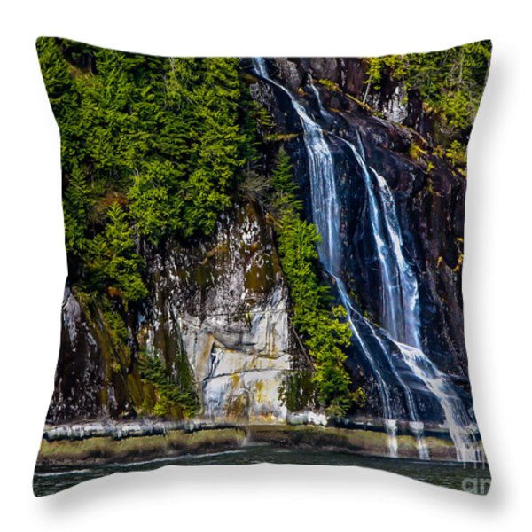Bluish Throw Pillow by Robert Bales