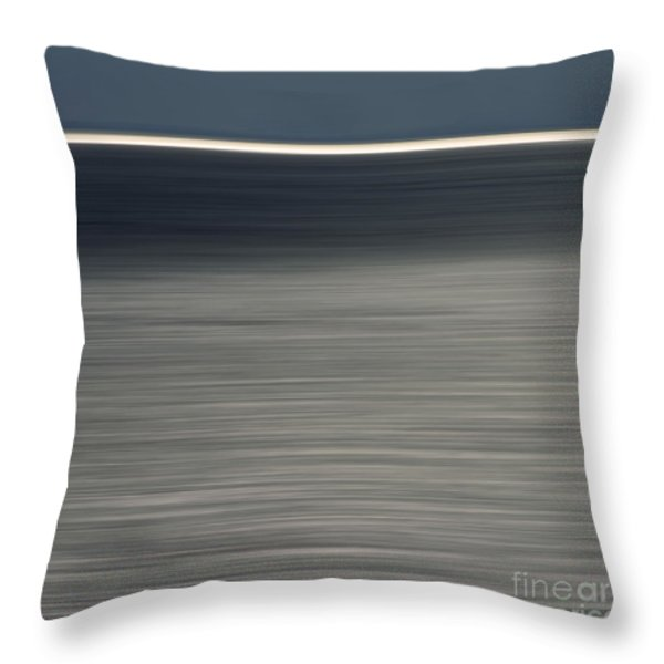 Blurred sea Throw Pillow by BERNARD JAUBERT