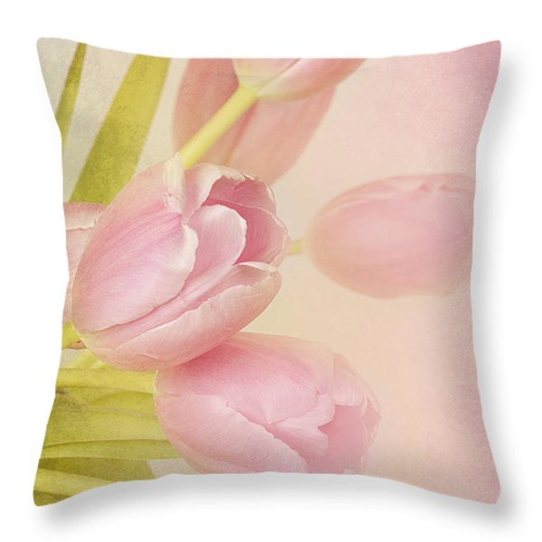 Blushing Beauties Throw Pillow by A New Focus Photography