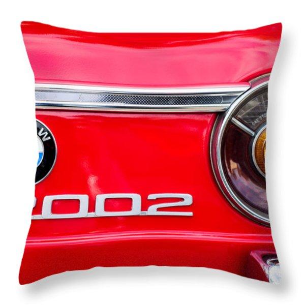 Bmw 2002 Taillight Emblem Throw Pillow by Jill Reger