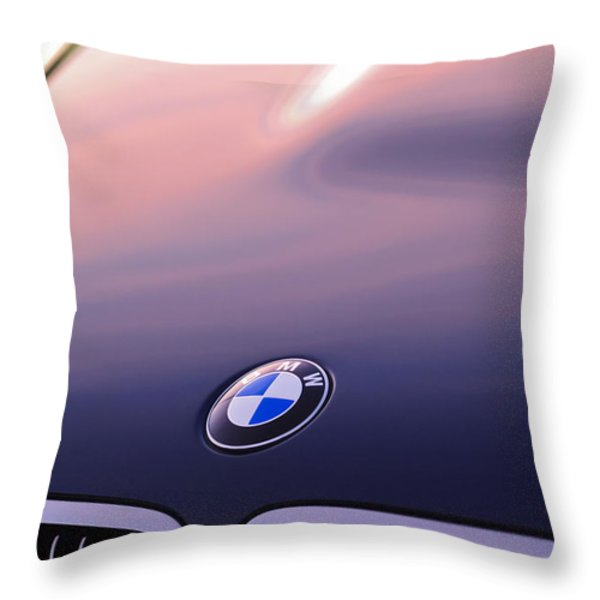 Bmw Hood Emblem Throw Pillow by Jill Reger