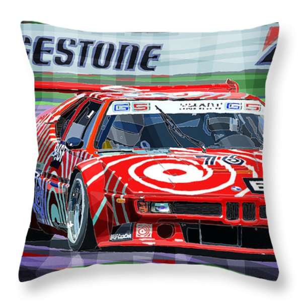 Bmw M1 1979 Throw Pillow by Yuriy Shevchuk