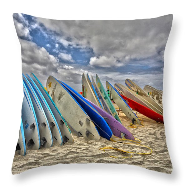 Board Meeting Throw Pillow by Cheryl Young