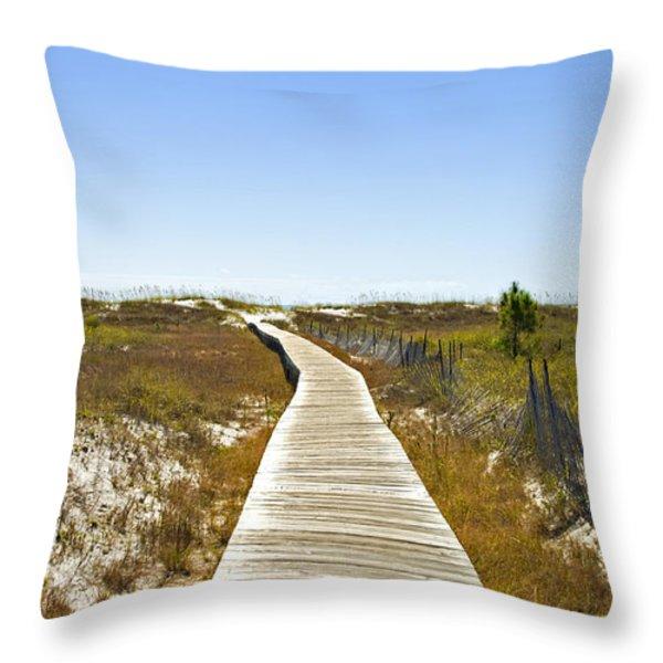 Boardwalk Throw Pillow by Susan Leggett