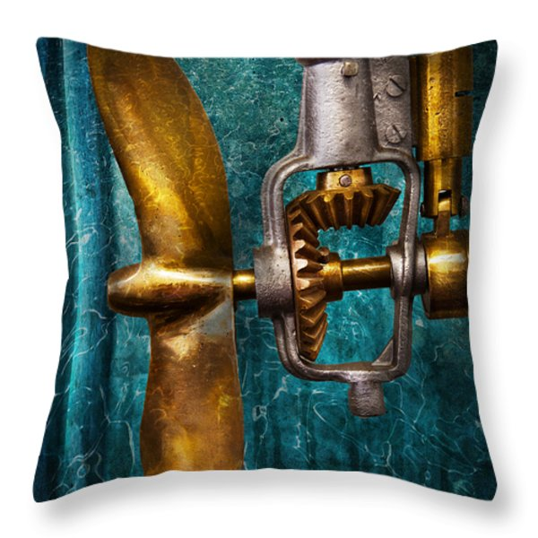 Boat - Propulsion  Throw Pillow by Mike Savad