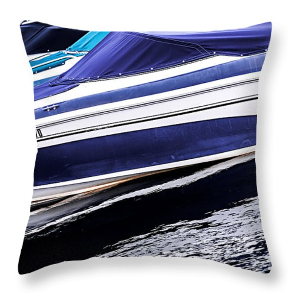 Boats And Reflections Throw Pillow by Elena Elisseeva