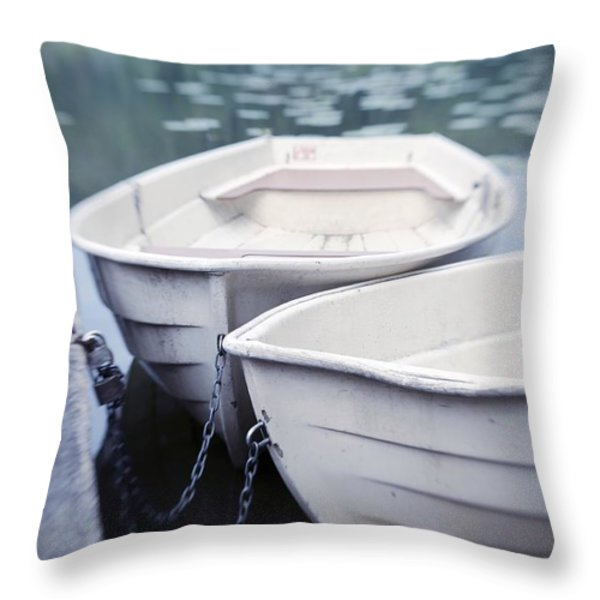 Boats Throw Pillow by Priska Wettstein