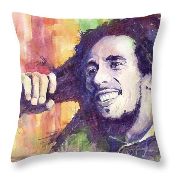 Bob Marley 02 Throw Pillow by Yuriy  Shevchuk