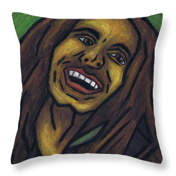 Bob Marley Throw Pillow by Kamil Swiatek