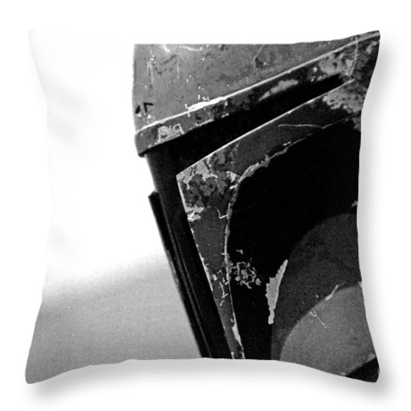 Boba Fett Helmet 24 Throw Pillow by Micah May