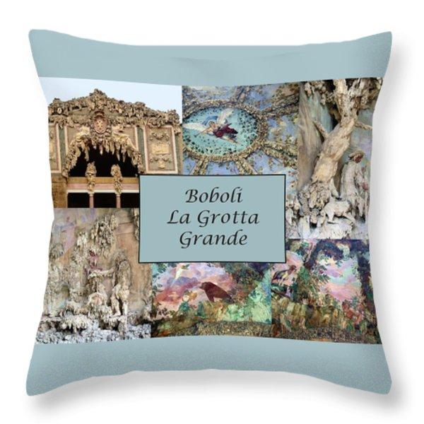 Boboli La Grotta Grande 1 Throw Pillow by Ellen Henneke