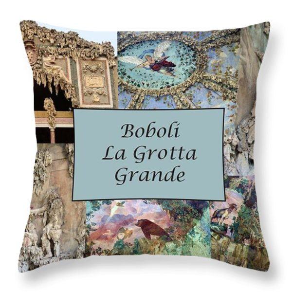 Boboli La Grotta Grande 1 Throw Pillow by Ellen Henneke