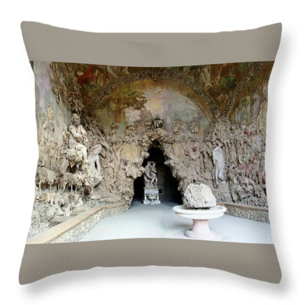 Boboli La Grotta Grande 3 Throw Pillow by Ellen Henneke
