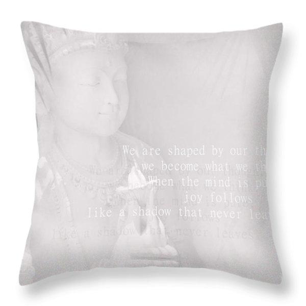 Bodhisattva Throw Pillow by Sharon Mau