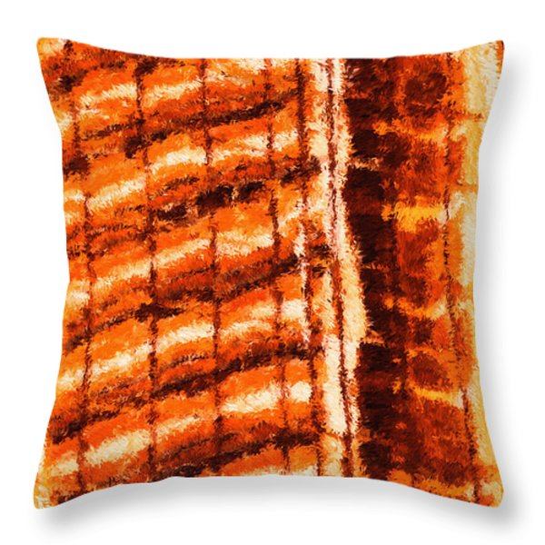Body Heat Throw Pillow by Ayse Deniz