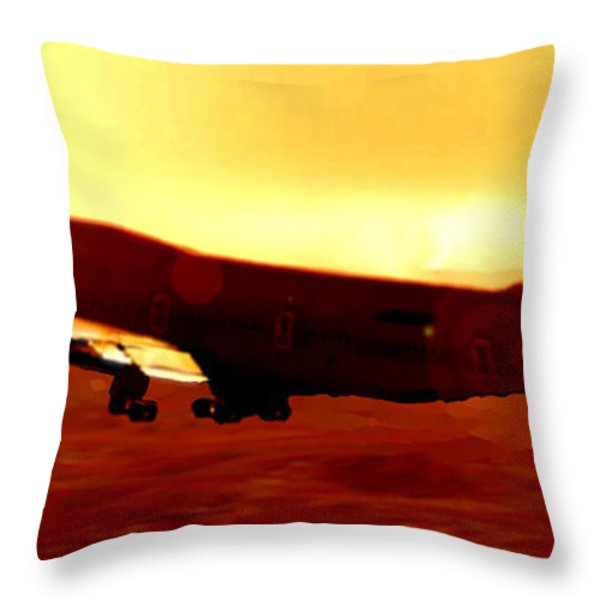 Boeing Beauty Throw Pillow by Marcello Cicchini