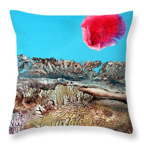 BOGOMIL SUNRISE 2 Throw Pillow by Otto Rapp