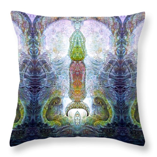 Bogomil Variation 13 Throw Pillow by Otto Rapp