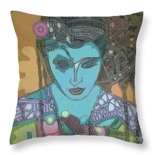 Bohee Water Throw Pillow by Amy Sorrell