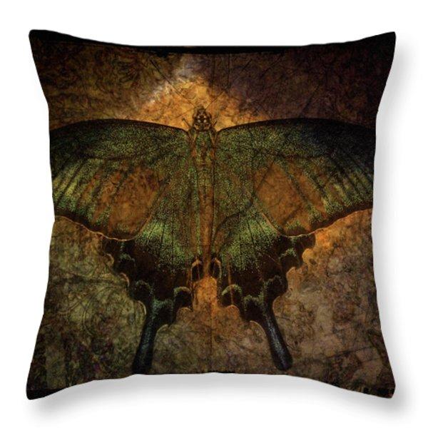 Bohemia Butterfly - Art Nouveau Throw Pillow by Absinthe Art By Michelle LeAnn Scott