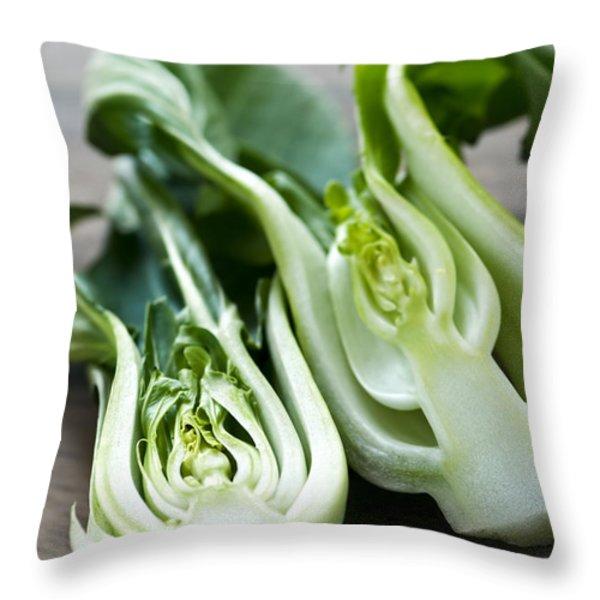 Bok choy Throw Pillow by Elena Elisseeva