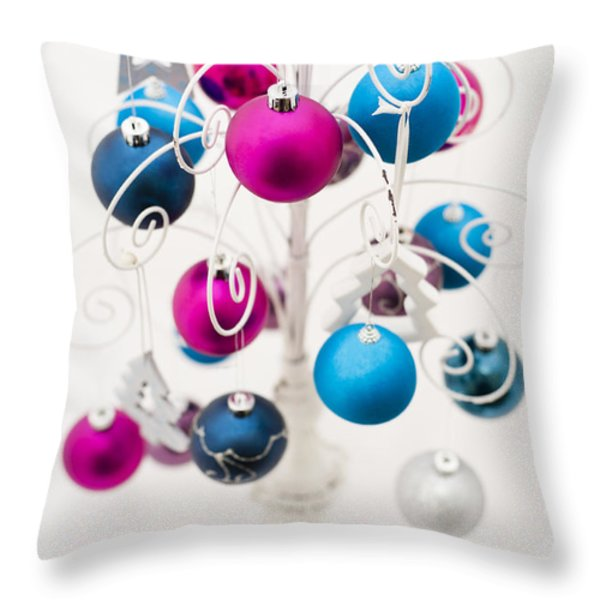 Bold Baubles Throw Pillow by Anne Gilbert