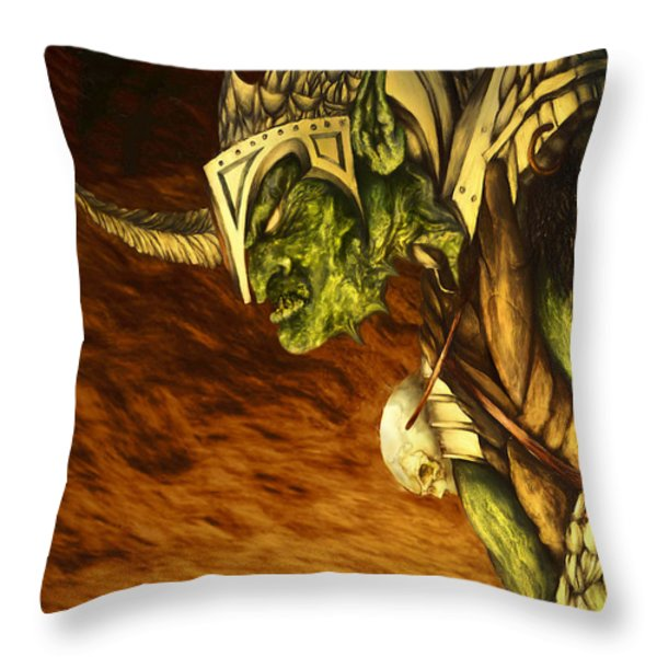 Bolg The Goblin King Throw Pillow by Curtiss Shaffer