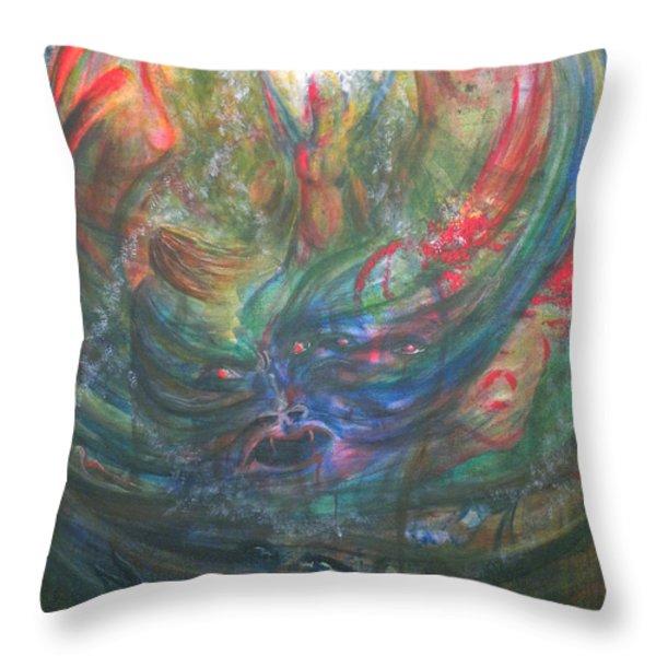 Bondage Broken Throw Pillow by Sheri Lauren Schmidt