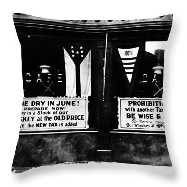 Bone Dry In June - Prohibition Sale Throw Pillow by Bill Cannon
