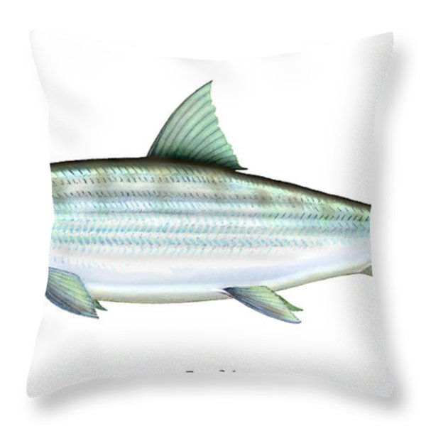 Bonefish Throw Pillow by Charles Harden
