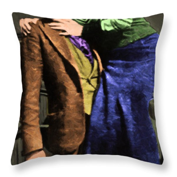 Bonnie And Clyde 20130515 Long Throw Pillow by Wingsdomain Art and Photography