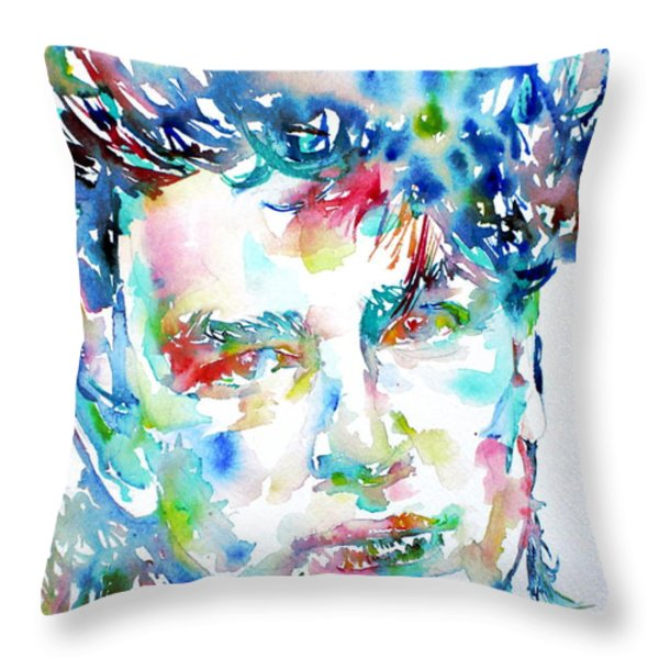 BONO WATERCOLOR PORTRAIT.1 Throw Pillow by Fabrizio Cassetta