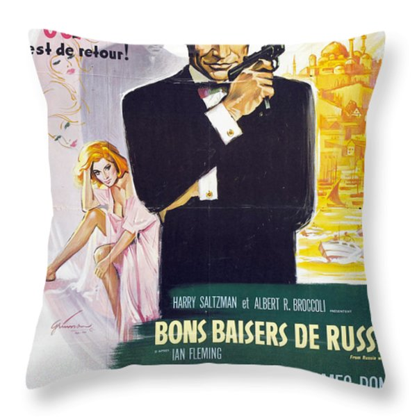 Bons Baisers de Russie Throw Pillow by Nomad Art And  Design