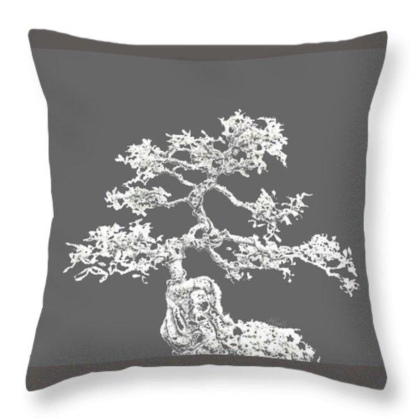 Bonsai II Throw Pillow by Ann Powell