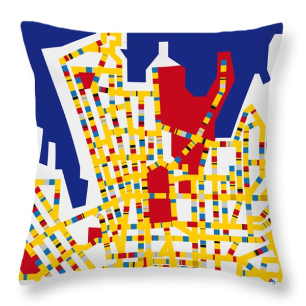 Boogie Woogie Sydney Throw Pillow by Chungkong Art