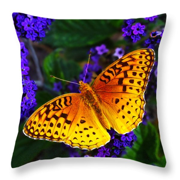 Boothbay Butterfly Throw Pillow by Bill Caldwell -        ABeautifulSky Photography