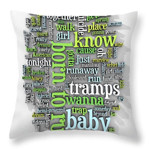 Born To Run Throw Pillow by Scott Norris
