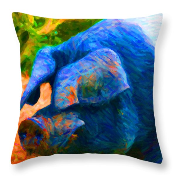 Boss Hog - 2013-0108 Throw Pillow by Wingsdomain Art and Photography