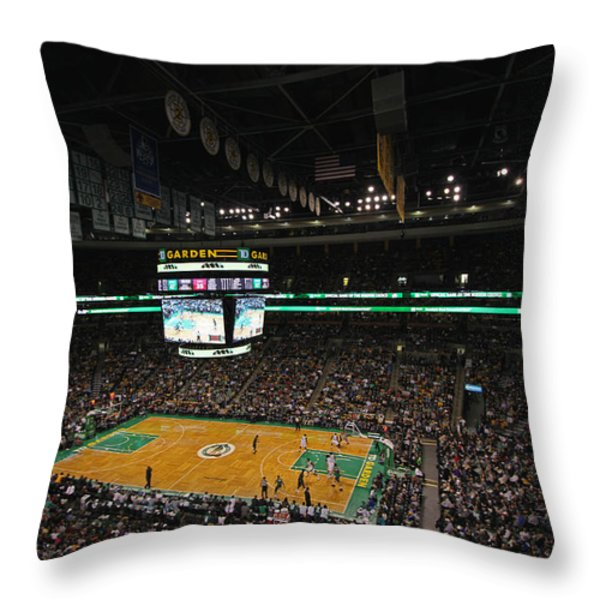 Boston Celtics Basketball Throw Pillow by Juergen Roth