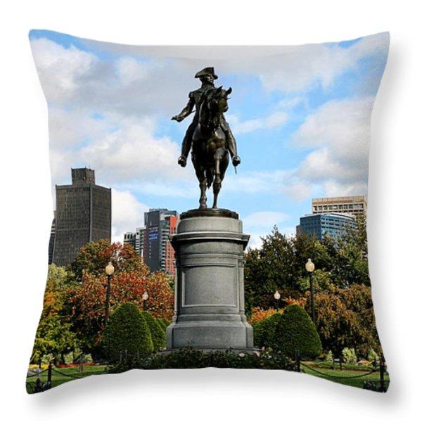 Boston Common Throw Pillow by DJ Florek