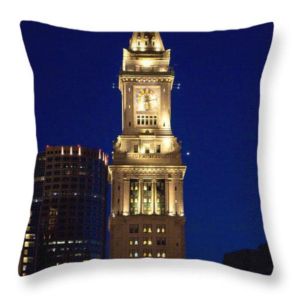 Boston Custom House Throw Pillow by Joann Vitali