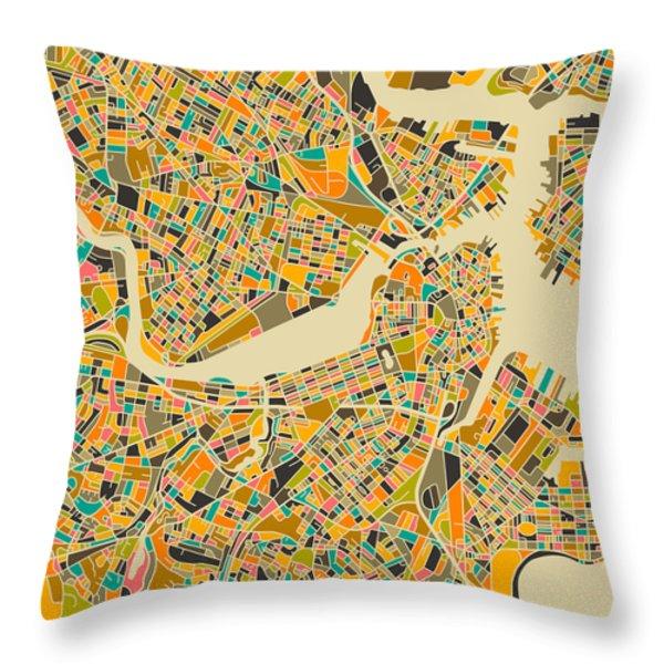 BOSTON Throw Pillow by Jazzberry Blue