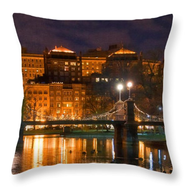 Boston Lagoon Bridge 2 Throw Pillow by Joann Vitali