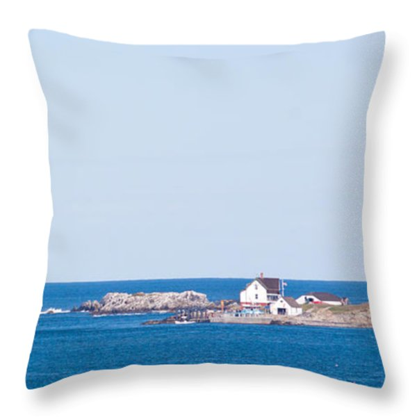 Boston Lighthouse Throw Pillow by Nomad Art And  Design